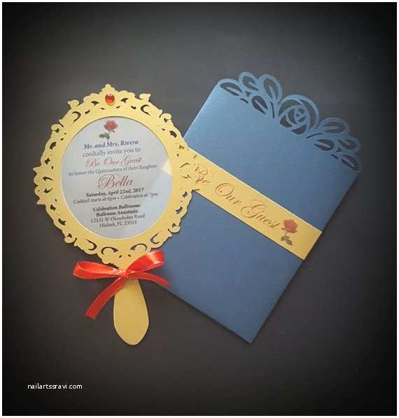 Mirror Wedding Invitations Mirror Invitation Wedding Invitation Princess Invite