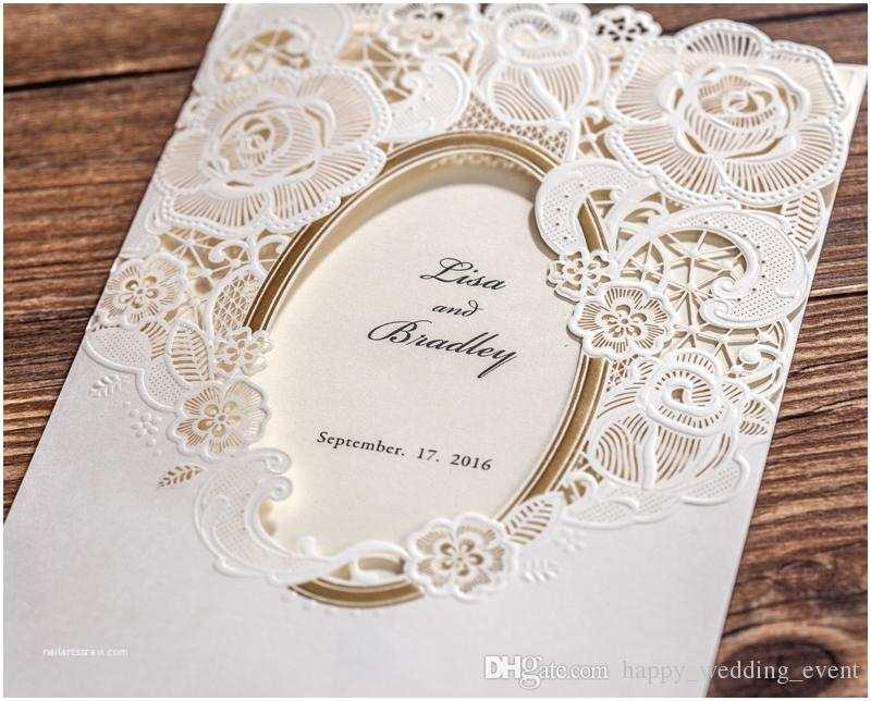 Mirror Wedding Invitations New Chic Lace Mirror White Wedding Invitation Laser Cut