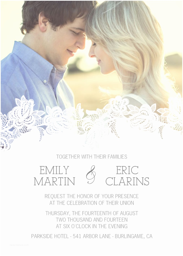 Mixbook Wedding Invitations Delicate Overlay Pinterest