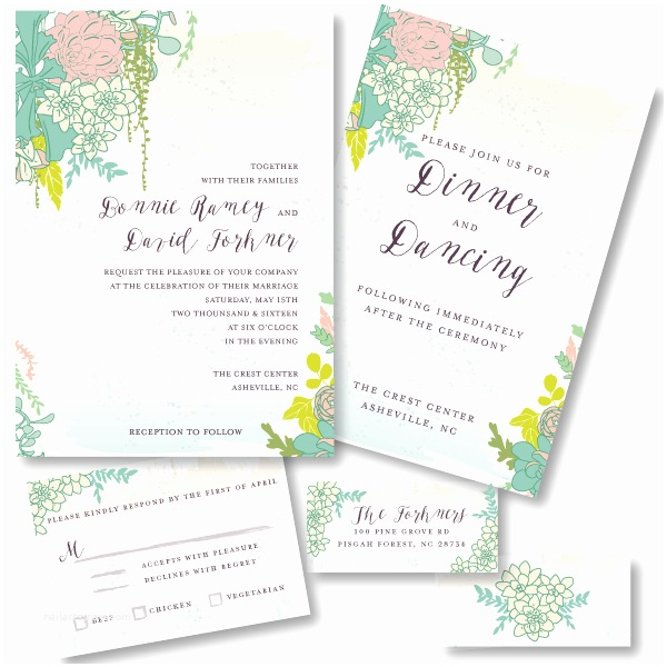 Mixbook Wedding Invitations Succulence Book and Wedding Invitations for Mixbook