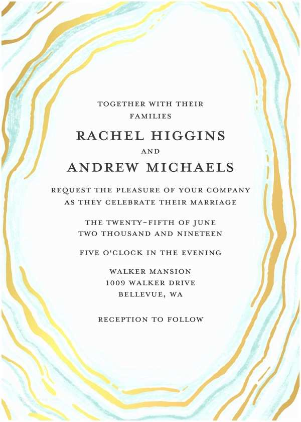 Mixbook Wedding Invitations Wedding Invitations Chic Geode Wedding by Mixbook