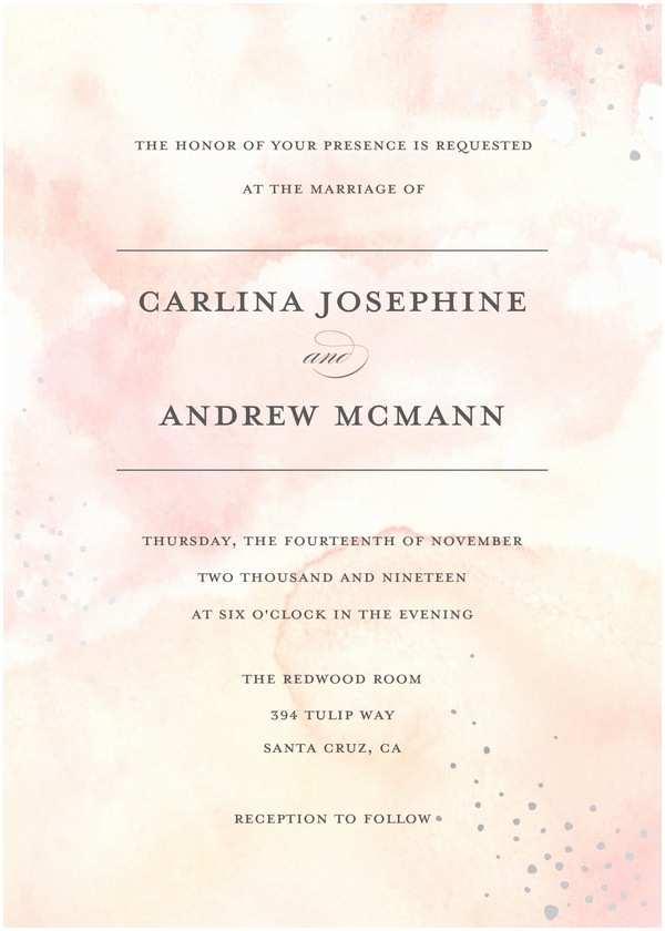 Wedding Invitations Wedding Invitations Coral Watercolor Wedding By