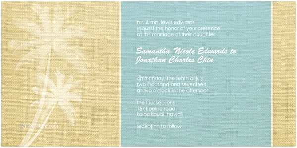 Mixbook Wedding Invitations Wedding Invitations Raffia Palms by Mixbook