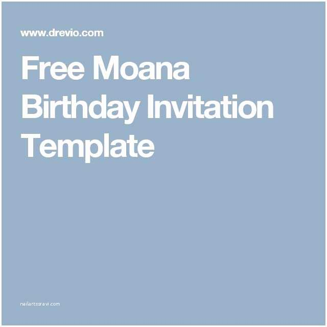 Moana Birthday Party Invitations Free Moana Birthday Invitation Template