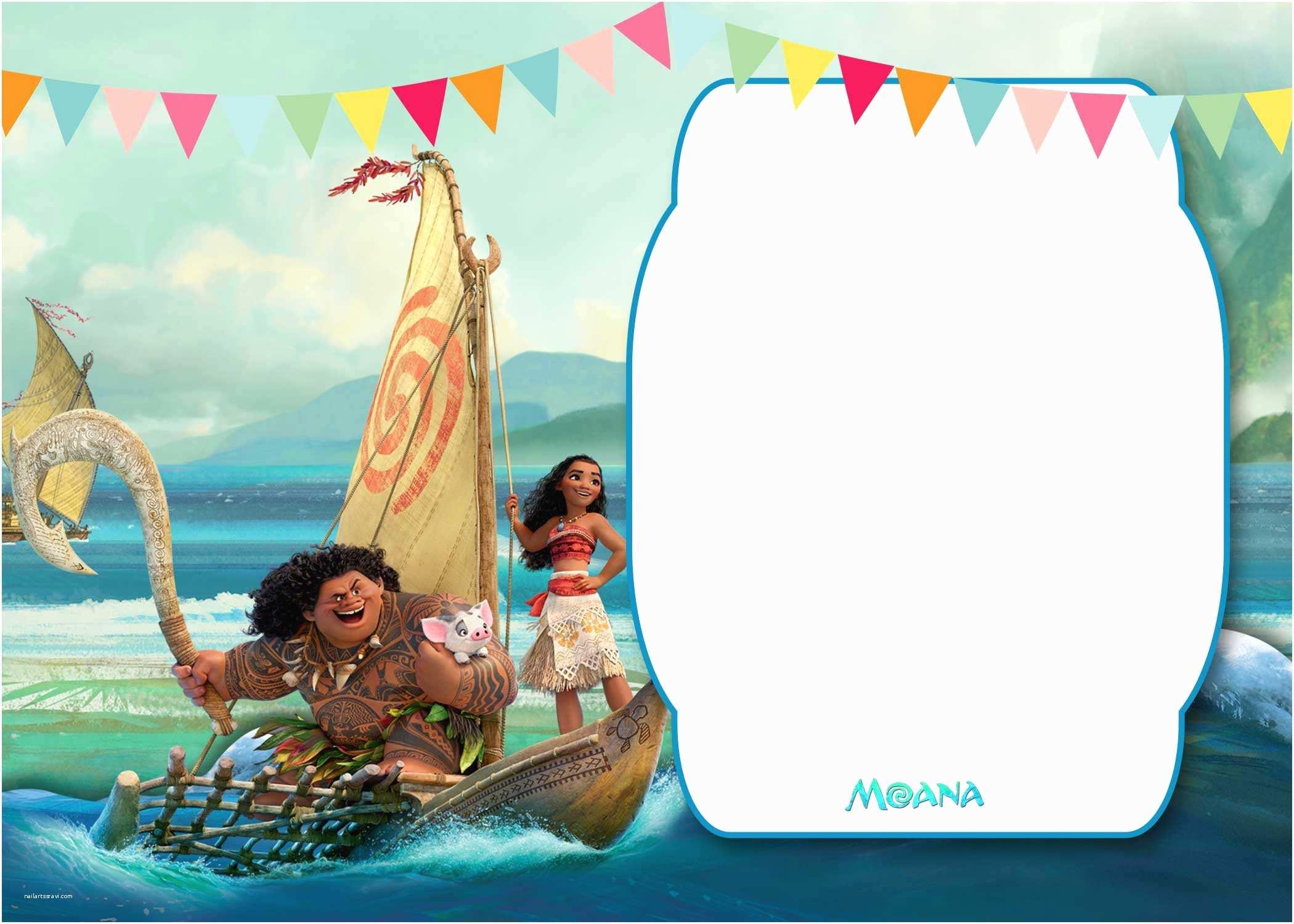 Moana Birthday Party Invitations Free Printable Moana 1st Invitation Template – Bagvania