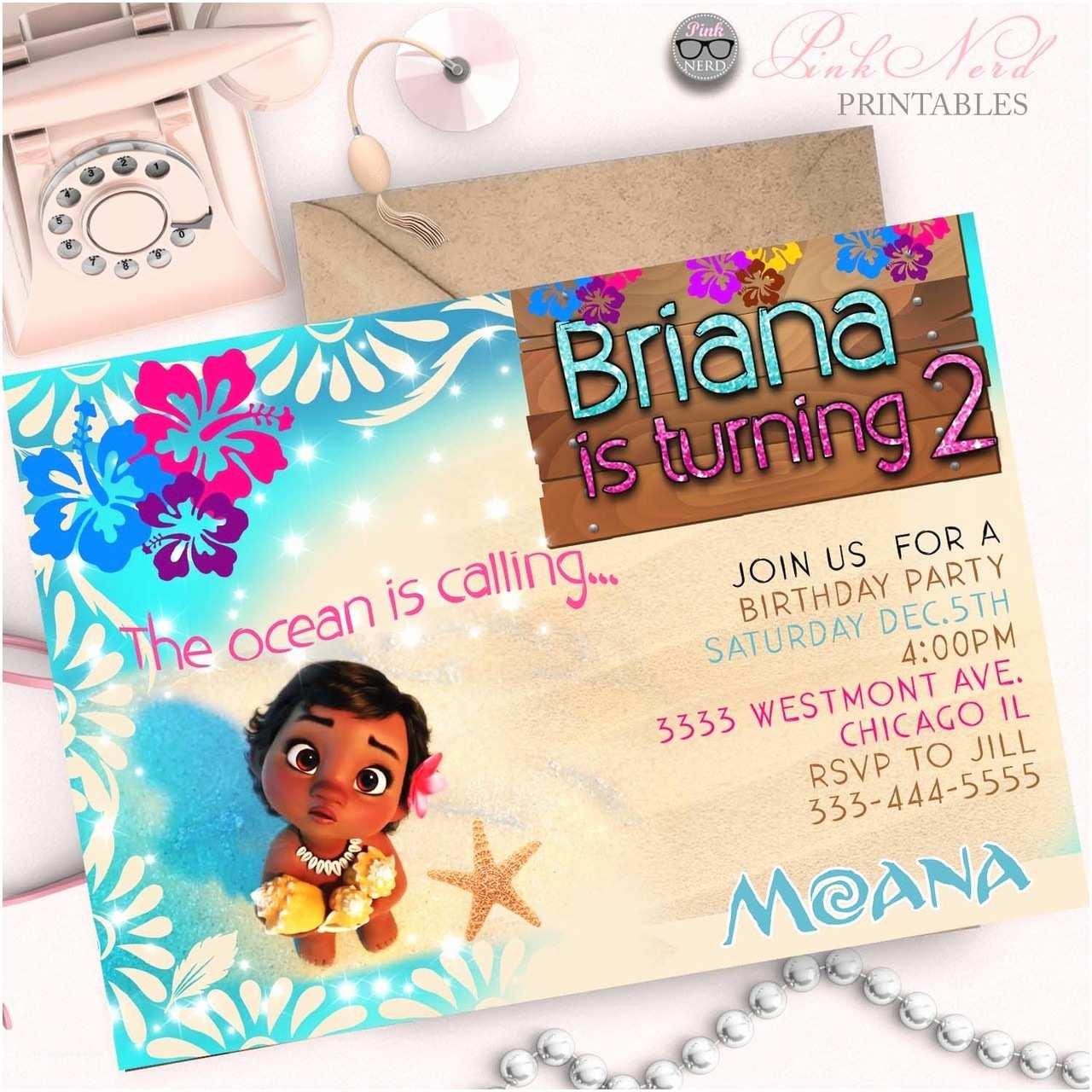 Moana Birthday Party Invitations Moana Birthday Invitation Moana Invitation Moana Party