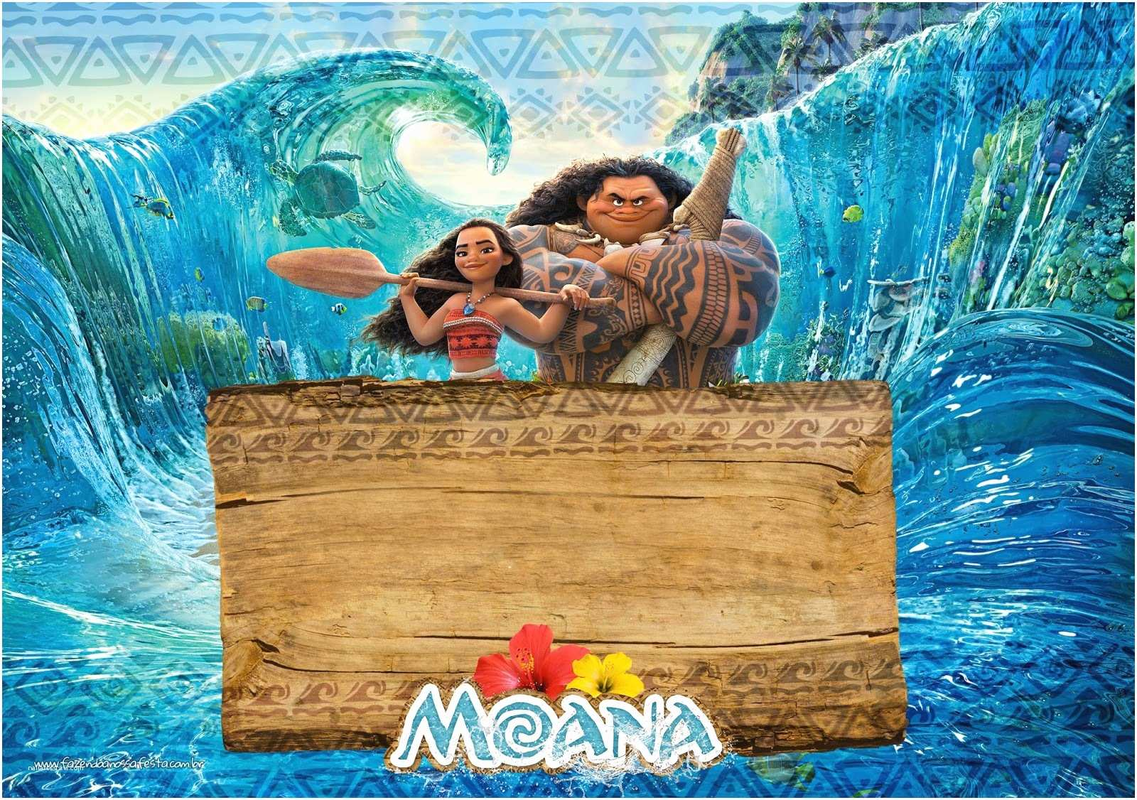 picture relating to Free Printable Moana Invitations known as Moana Birthday Bash Invites Cost-free Moana Celebration Printables