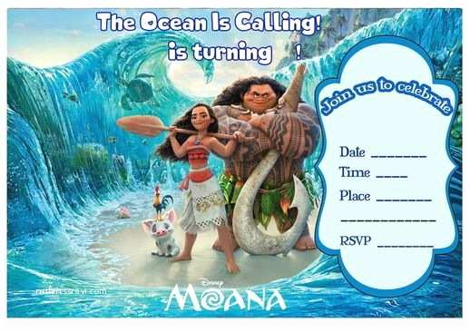Moana Party Invitations 17 Best Images About Birthday Party Invitations Free