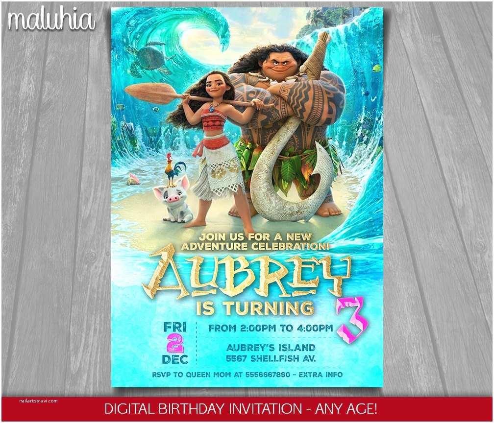 Moana Party Invitations Moana Invitation Disney Moana Invite Moana Birthday