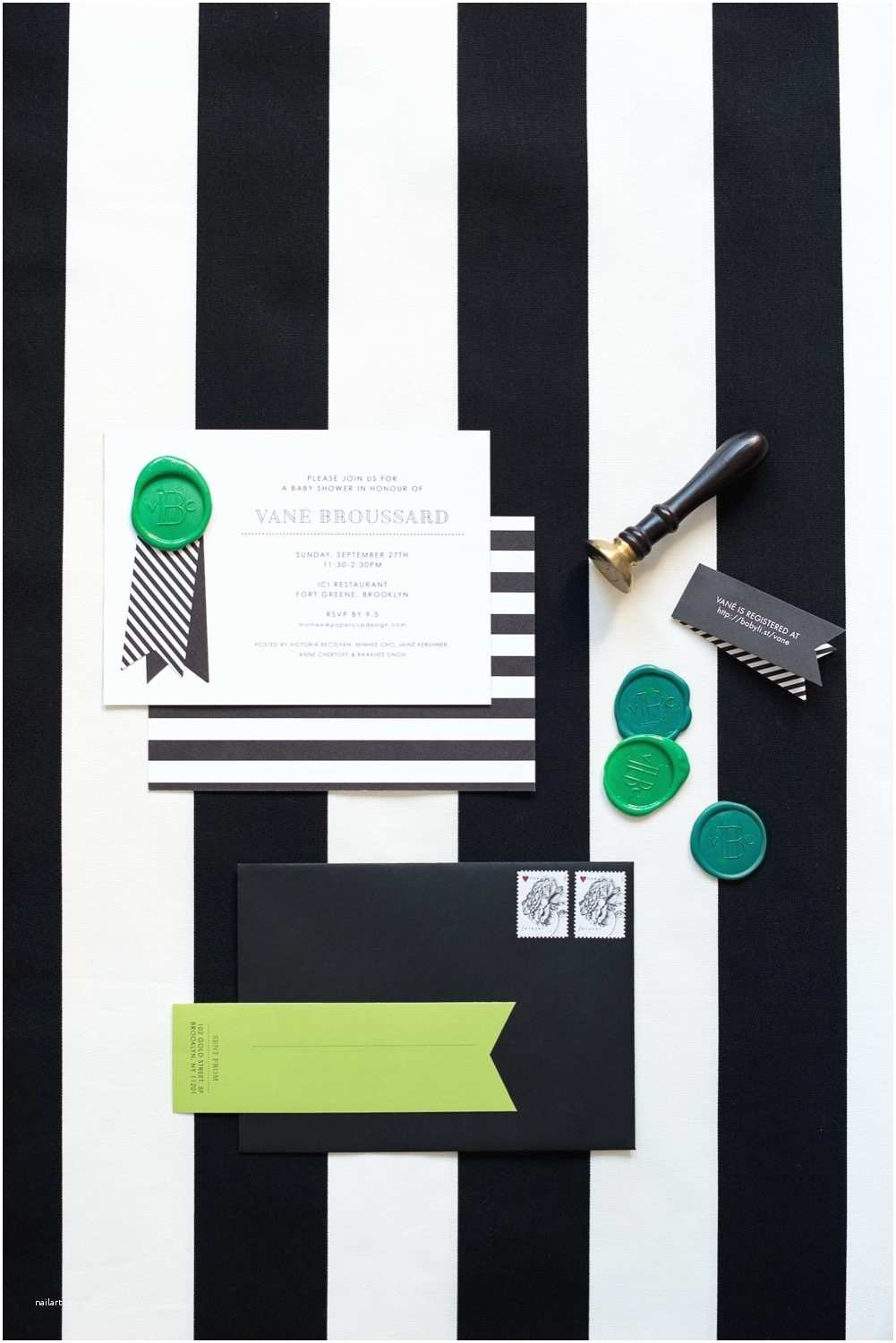 Modern Baby Shower Invitations A Graphic Black White Modern Baby Shower The