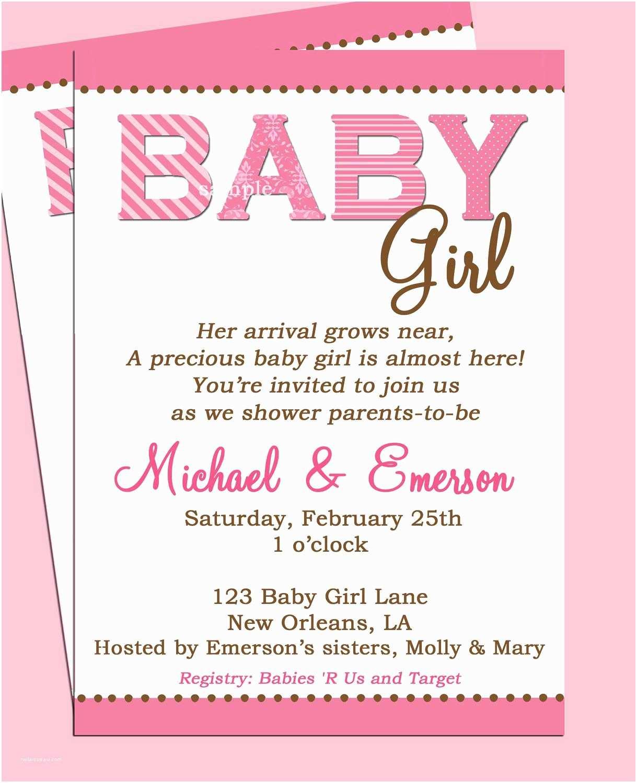 Modern Baby Shower  Baby Shower Invitation Baby Girl Shower