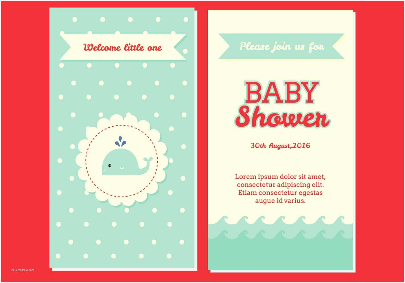 Modern Baby  Invitations Lovely Pink Floral Pattern Background Modern Baby
