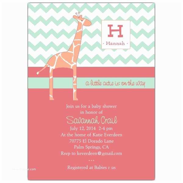 Modern Baby Shower  Modern Giraffe Baby Girl Shower