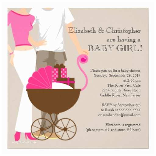 Modern Baby Shower Invitations Personalized Couples Girl Baby Shower Invitations