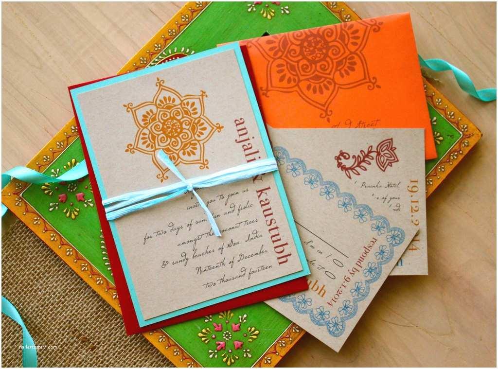 Modern Indian Wedding Invitations Bright Modern Wedding Invitations for Indian Weddings