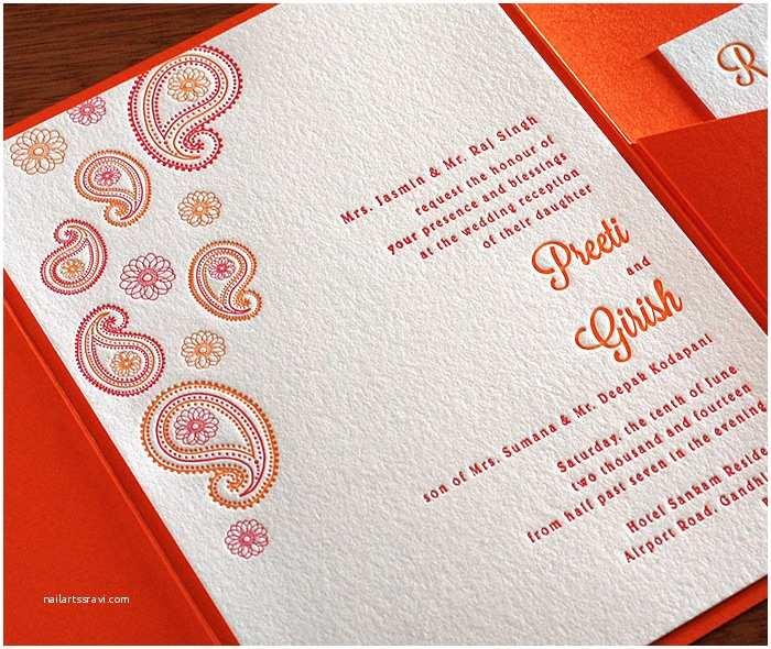 Modern Indian Wedding Invitations Modern Indian Letterpress Wedding Invitation Gallery