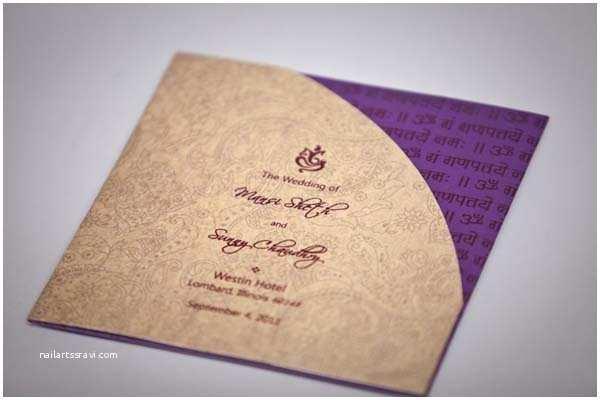 Modern Indian Wedding Invitations Modern Indian Wedding Invitation