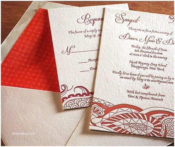 Modern Indian Wedding Invitations Specialty Invitations for A Mehndi Party