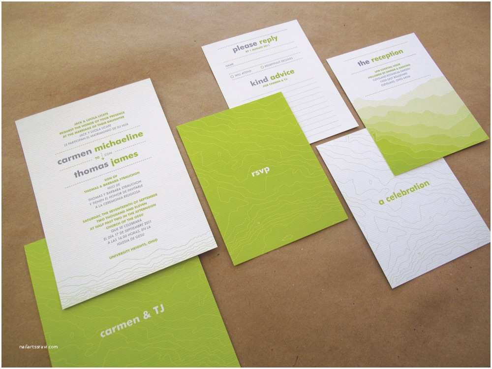Modern Wedding Invitation Design Ajala S Blog topographic Geography Modern Wedding