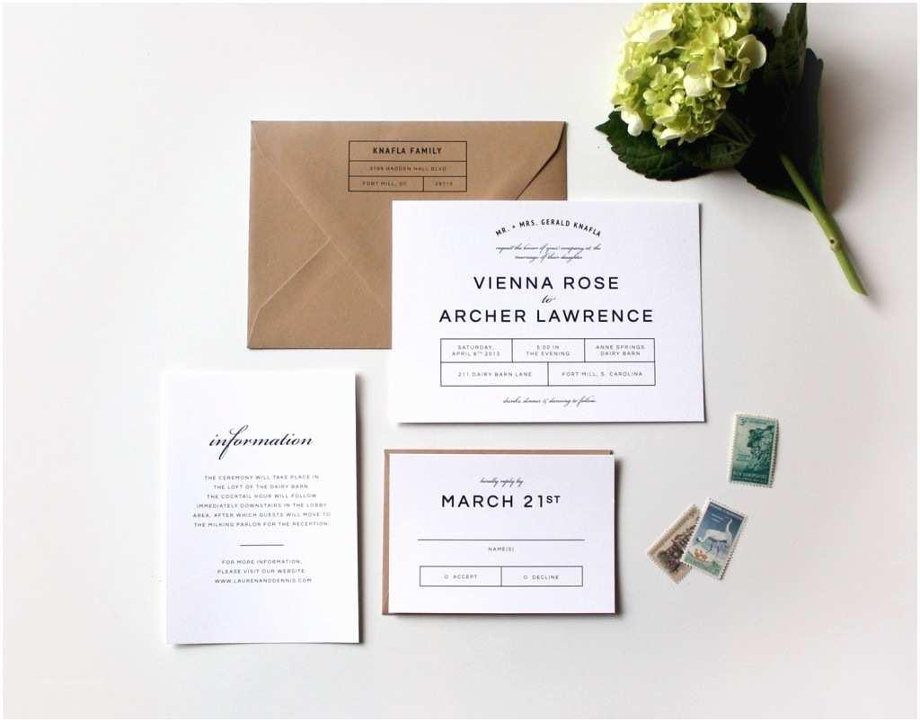 Modern Wedding Invitation Design Bold Modern Wedding Invitation Suite