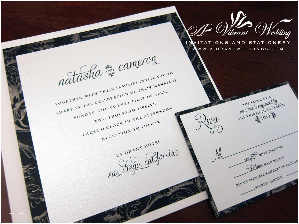 Modern Wedding Invitation Design Contemporary Wedding Invitation – A Vibrant Wedding