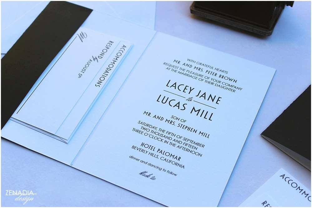 Modern Wedding Invitation Design Modern Black White Wedding Invitation with Gold