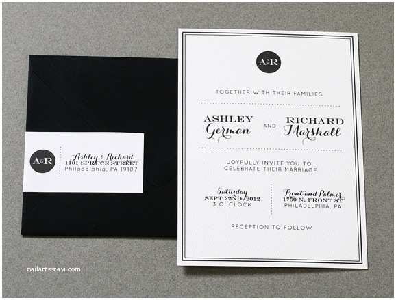 Modern Wedding Invitation Design Wonderful Invites