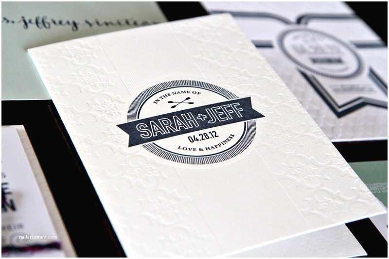 Modern Wedding Invitations Sarah Jeff S Modern Wedding Invitations and Save the Dates