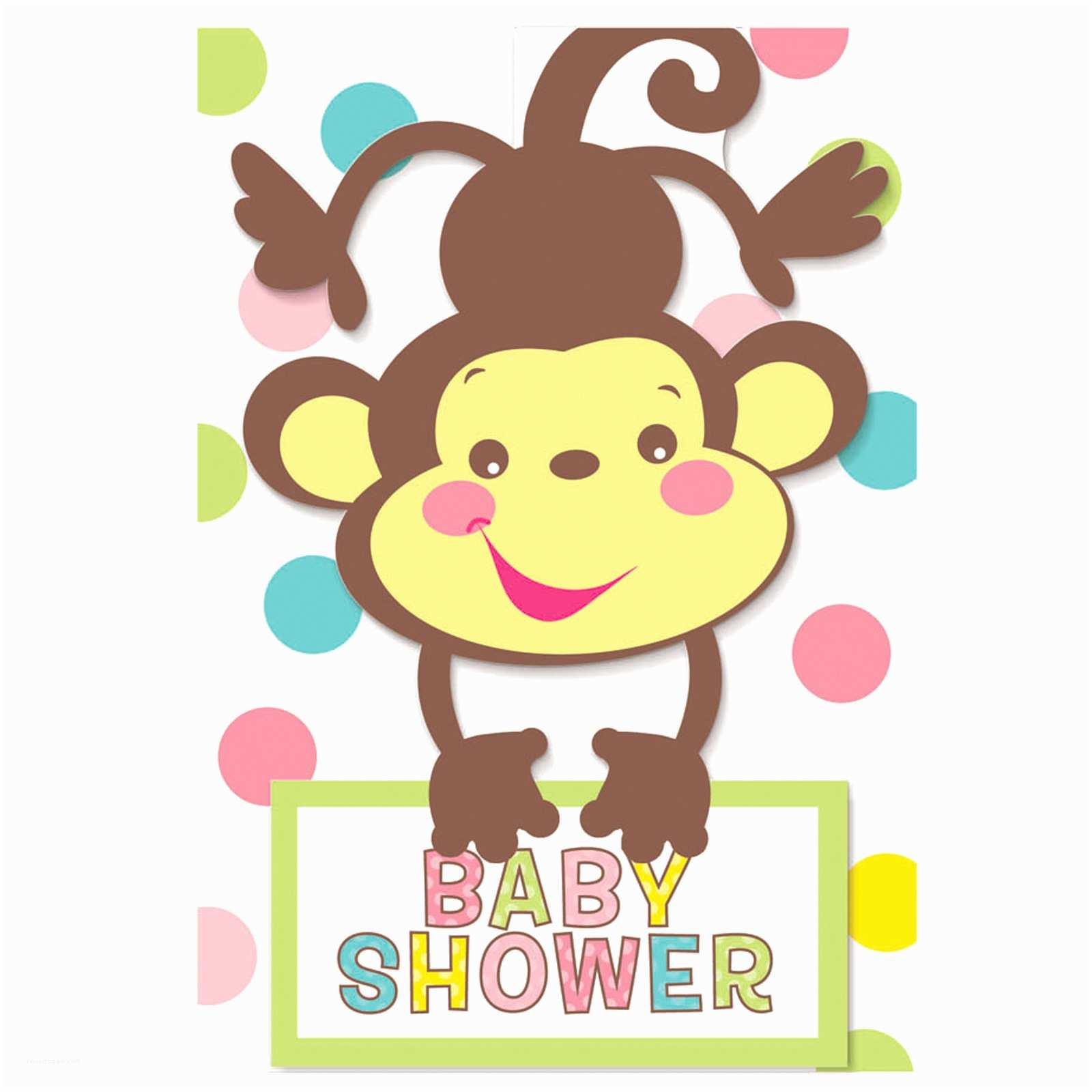 Monkey Baby Shower Invitations Cartoon Baby Monkeys Cliparts