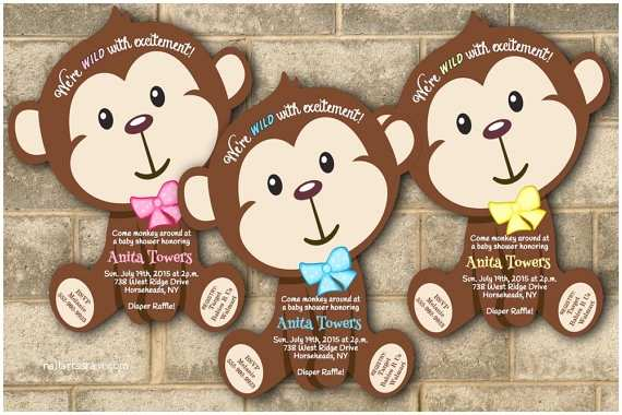 Monkey Baby Shower Invitations Monkey Baby Shower Invitations Jungle Baby Shower Invitation