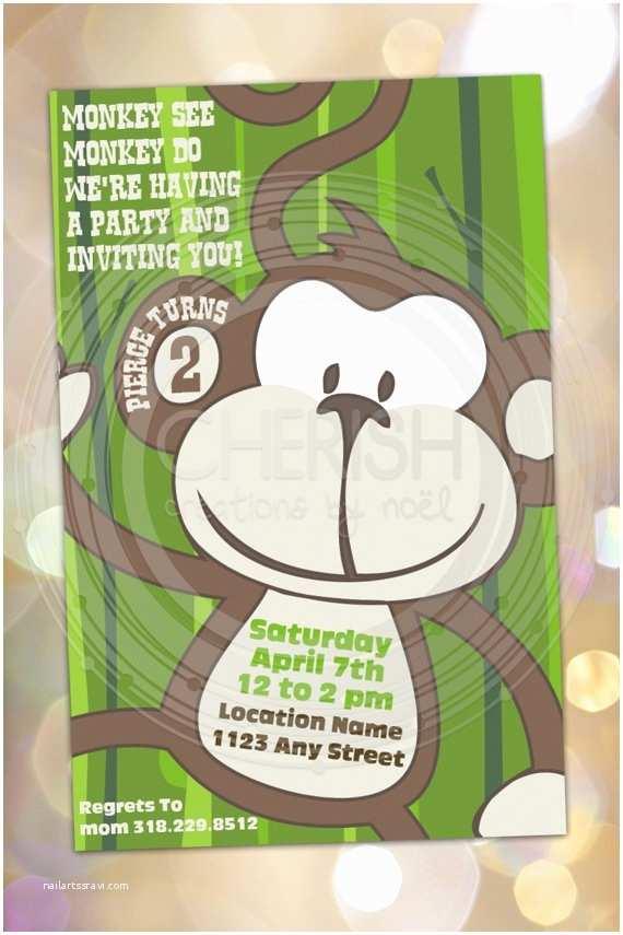 Monkey Birthday Invitations 9 Best 1st Birthday Images On Pinterest