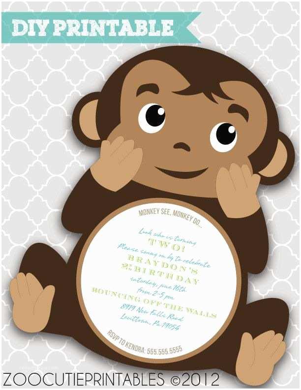 Monkey themed Baby Shower Invitations 25 Best Ideas About Monkey Invitations On Pinterest