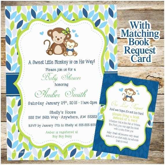 Monkey themed Baby Shower Invitations Best 20 Baby Shower Monkey Ideas On Pinterest