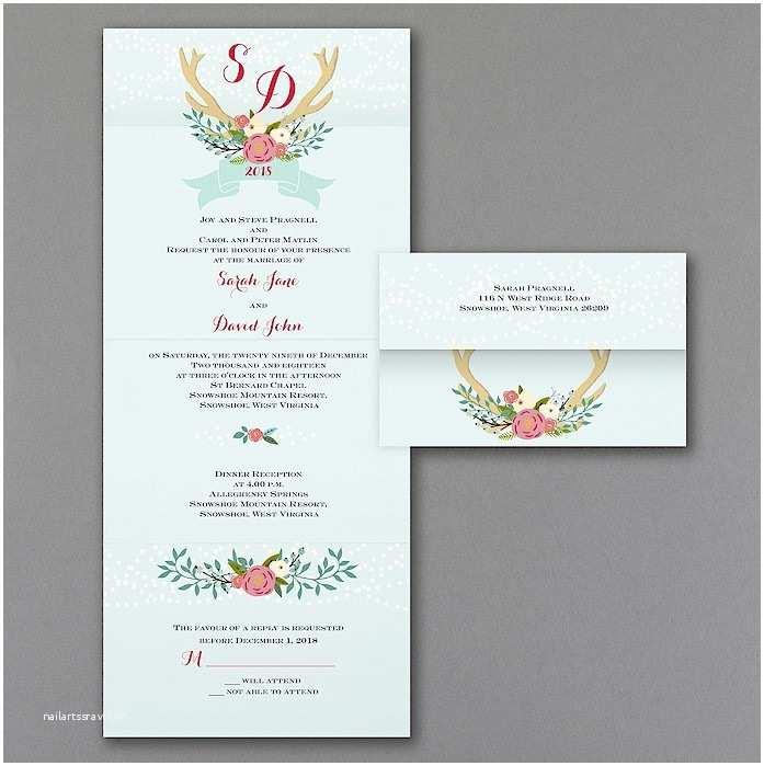 Monogram Seals for Wedding Invitations Antler Monogram Seal N Send Wedding Invitation