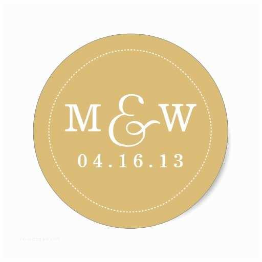 Monogram Seals for Wedding Invitations Charming Wedding Monogram Sticker Gold