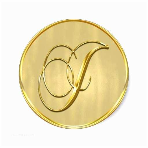 Monogram Seals for Wedding Invitations Gold Monogram J Seal Wedding Invitation Holiday Classic