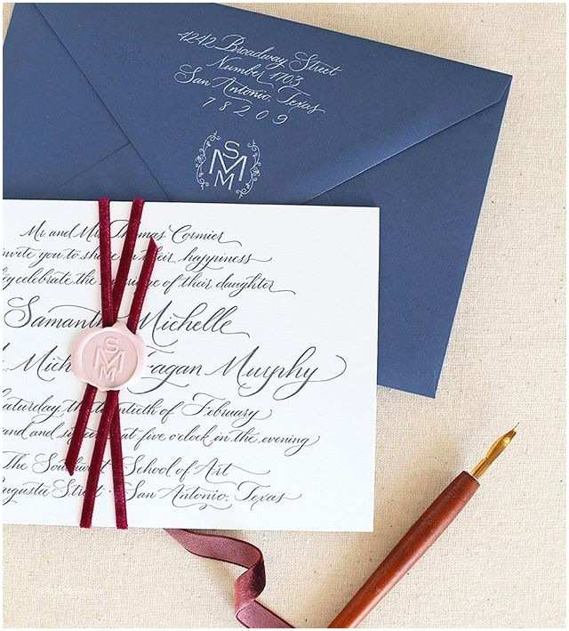 Monogram Seals for Wedding Invitations Gorgeous Letterpress Invitation Bound to Her with