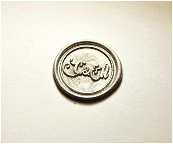 Monogram Seals for Wedding Invitations Personalized 2 Initials Wax Seal Stamp Monogram Wax Seals