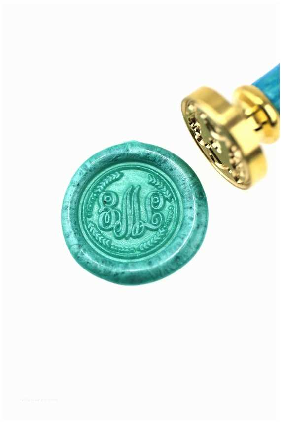 Monogram Seals For Wedding Invitations Personalized Wax