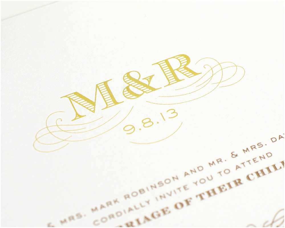 Monogram Wedding Invitations Amazing Monogram Wedding Invitations