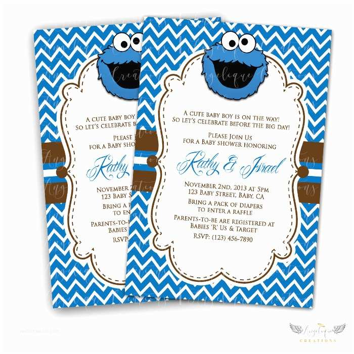 Monster Baby Shower Invitations Cookie Monster Baby Shower Invitations – Gangcraft