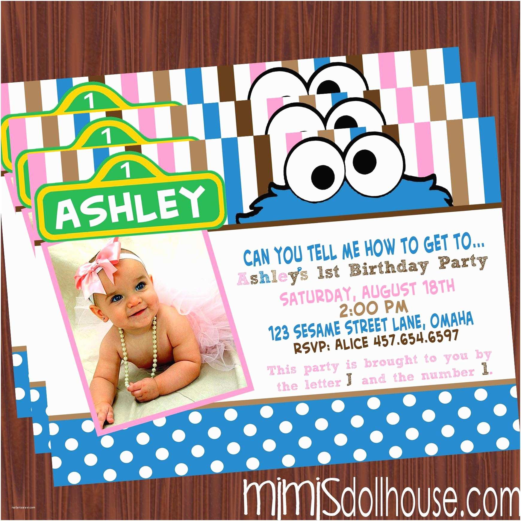 Monster Baby Shower Invitations Cookie Monster Baby Shower Invitations