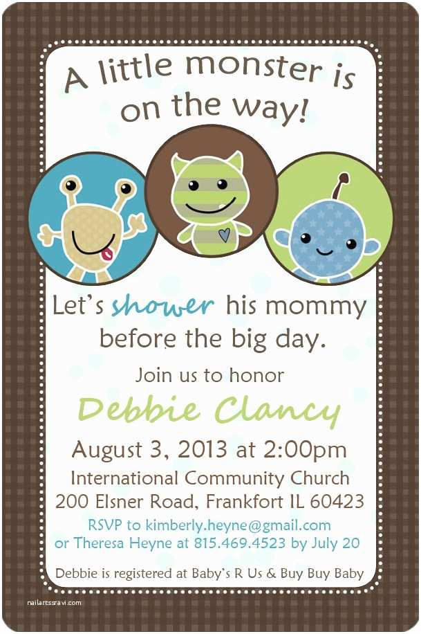 Monster Baby Shower Invitations Kim S Blog Little Monsters Baby Shower