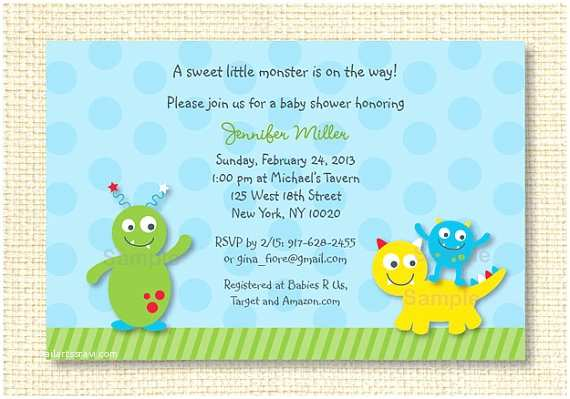 Monster Baby Shower Invitations Lil Monster Baby Shower Invitation Printable by Little