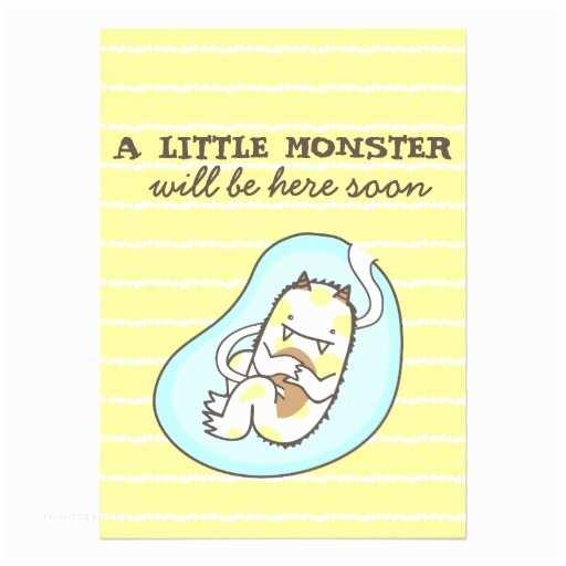Monster Baby Shower Invitations Little Monster Baby Shower Invitation Boy