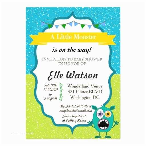 Monster Baby Shower Invitations Little Monster Baby Shower Invitations