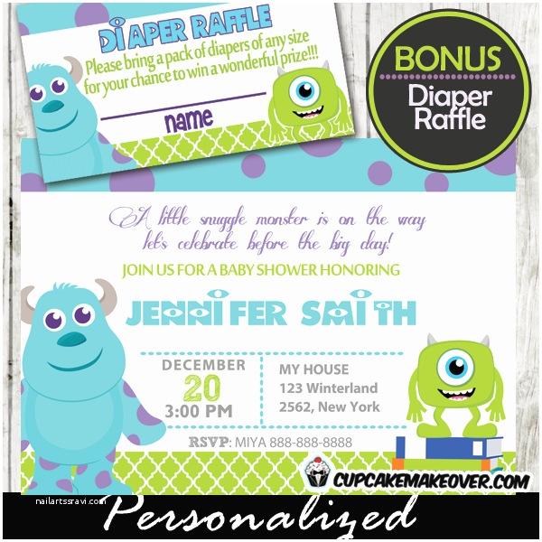 Monster Baby Shower Invitations Monster Inc Baby Shower Invites