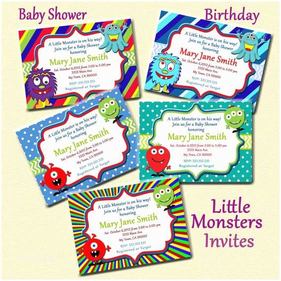 Monster Baby Shower Invitations Unavailable Listing On Etsy