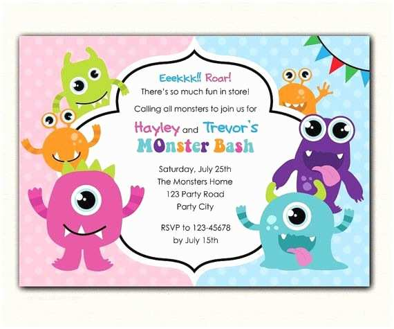 Monster Birthday Invitations 17 Best Ideas About Monster Birthday Invitations On