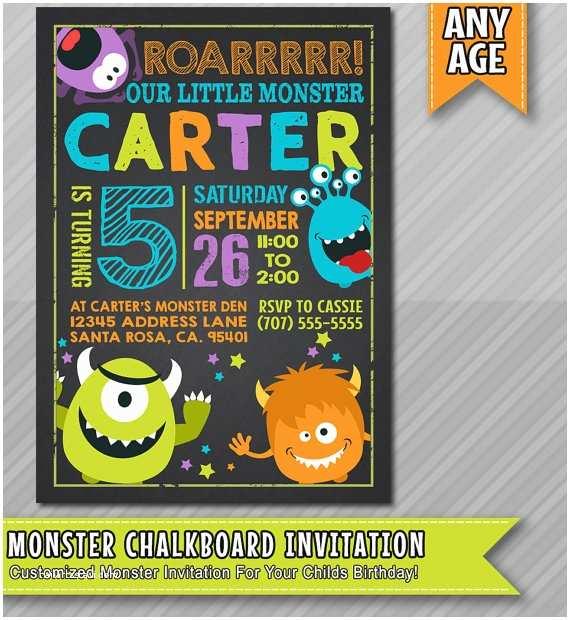 Monster Birthday Invitations Little Monster Birthday Invitation Monster by Wolcottdesigns
